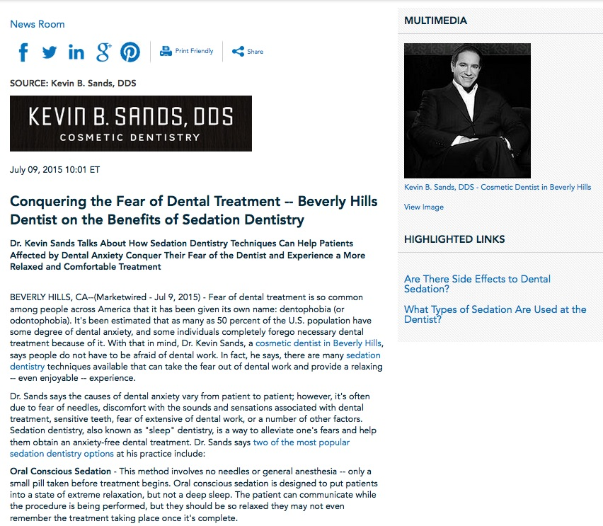 oral conscious,iv,sedation,sleep,dentistry,cosmetic,dentist,beverly hills,ca,dr,kevin sands,dds